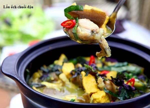 Cách làm món lẩu ếch chuối đậu